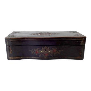 Antique C.1860 French Boulle Work Glove Box For Sale