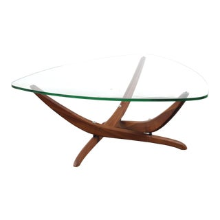 1960s Mid Century Modern Forrest Wilson Glass Coffee Table For Sale