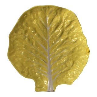 Vintage Yellow Leaf Platter For Sale