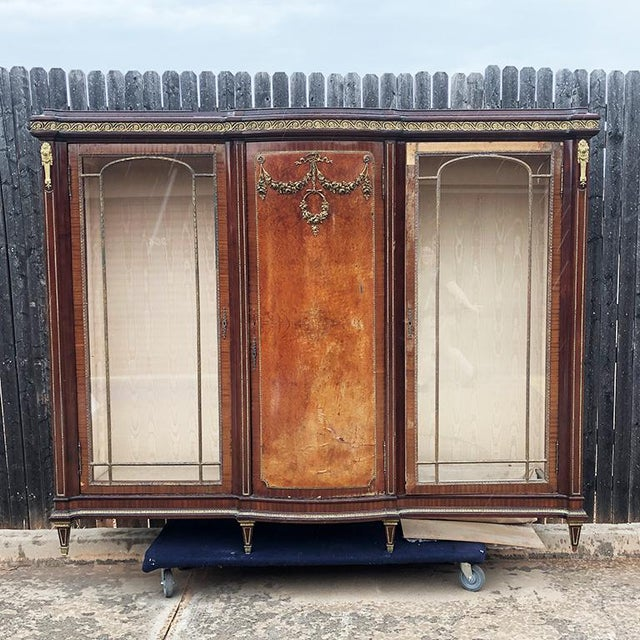 1700s Regency Louis XVI Style Burlwood Cabinet 18th Century France For Sale - Image 12 of 12