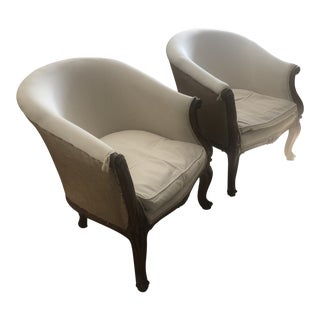 Early 21st Century Bergere Chairs- A Pair For Sale