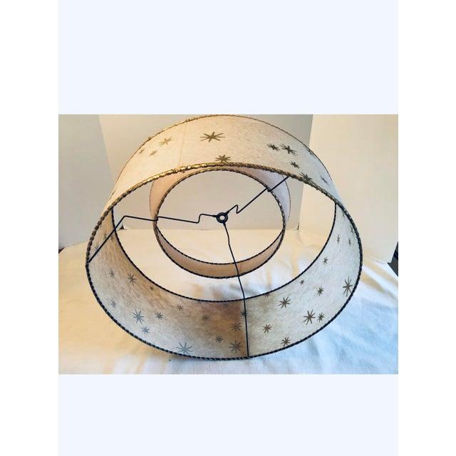 Mid 20th Century Vintage Mid-Century Modern Starburst Atomic 2 Tier Fiberglass Lamp Shades - a Pair For Sale - Image 5 of 12