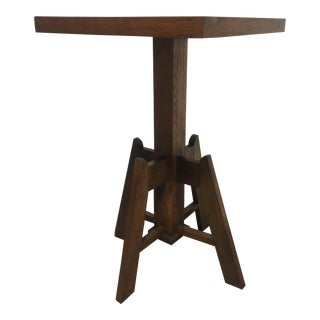 Early 21st C. Vintage Mission Oak Side Table For Sale