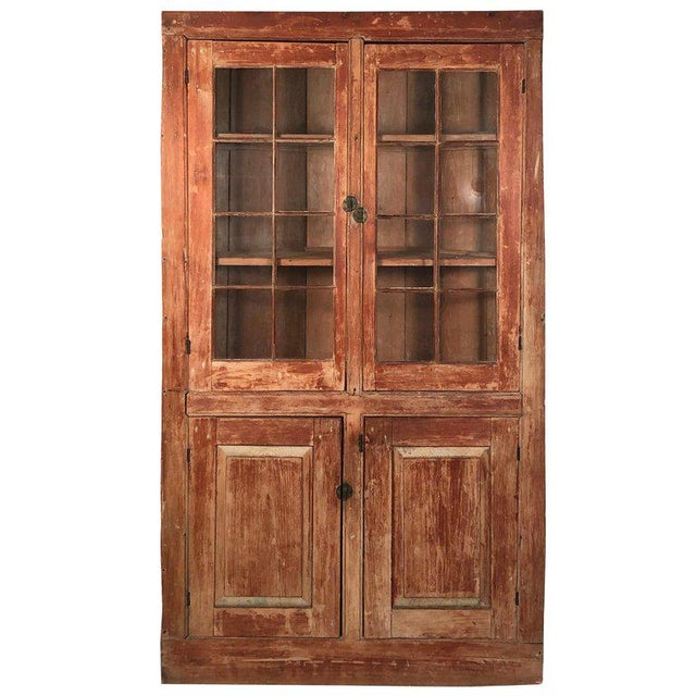 19th Century New England Country Corner Cupboard C. 1840 For Sale - Image 13 of 13