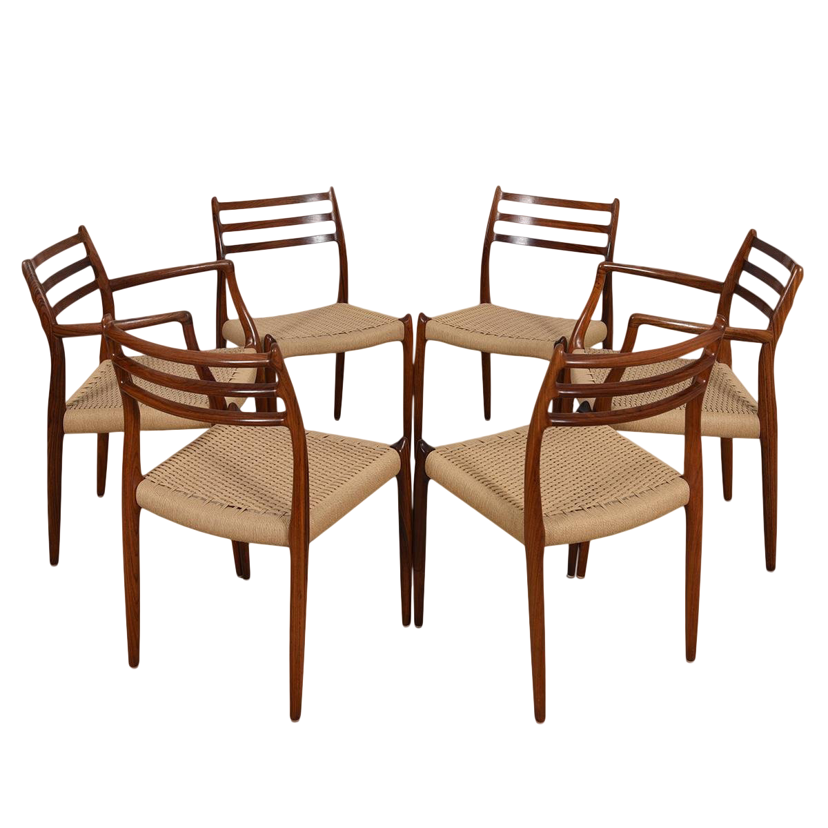 danish design dining chairs designer danish set of danish modern dining chairs by niels moller in rosewood with cord seats