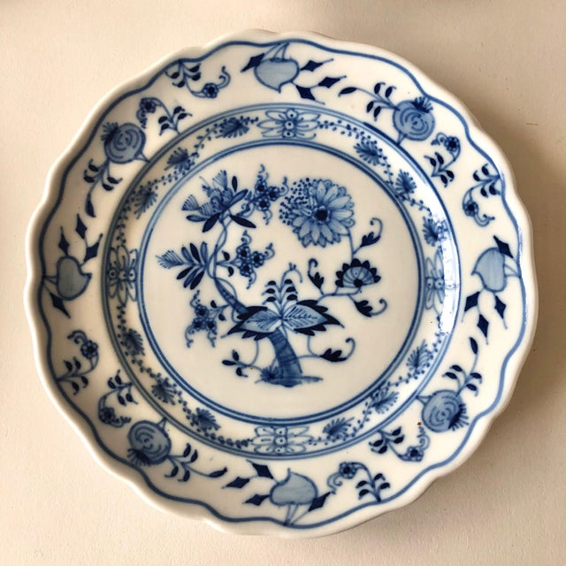 Early 20th Century Vintage Meissen Bread Plates by Carl Teichert - Set of 4 For Sale - Image 5 of 12