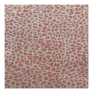 Pink Leopard Fabric Cotton Canvas