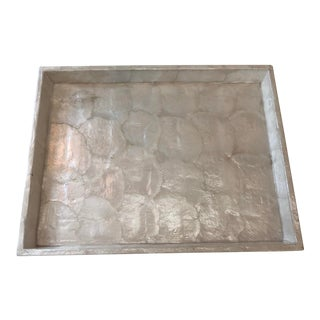 Contemporary Pearlized Decorative Tray For Sale