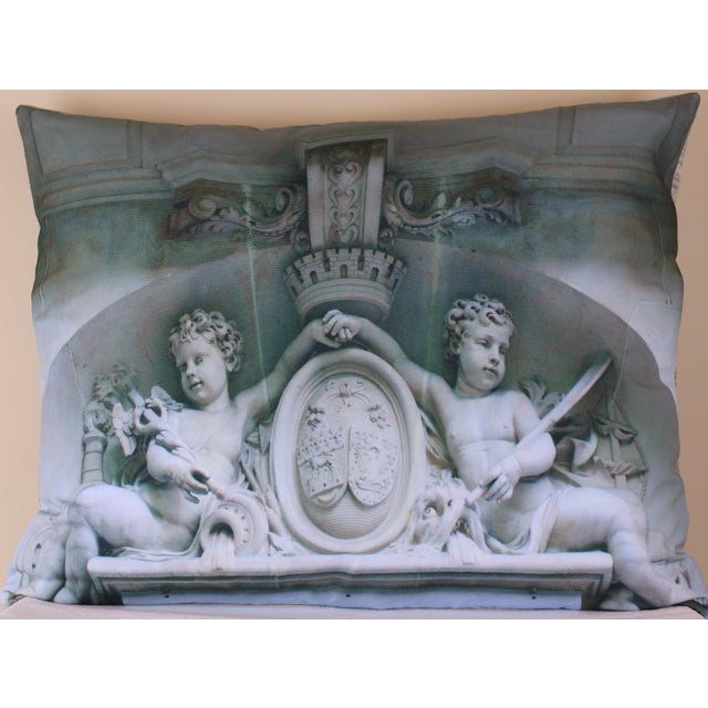 Architecture Photo Marble Overdoor Pillow For Sale - Image 13 of 13