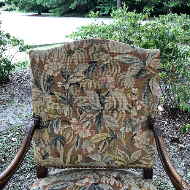 19th Century French Louis XV Tapestry Armchair For Sale In Dallas - Image 6 of 13