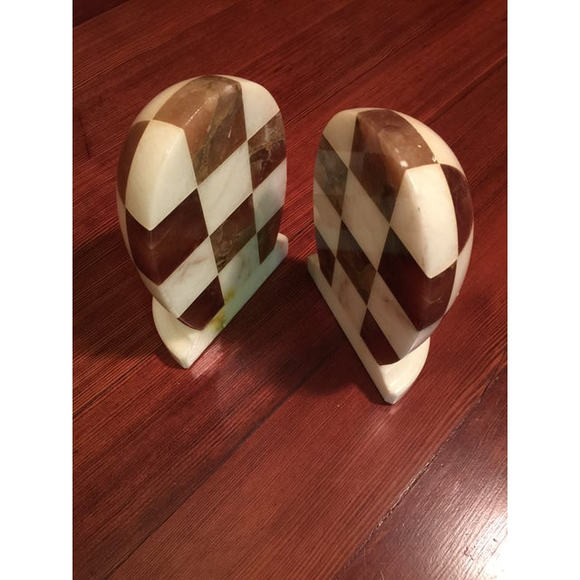 Hand-Carved Italian Alabaster Book Ends - Image 5 of 7