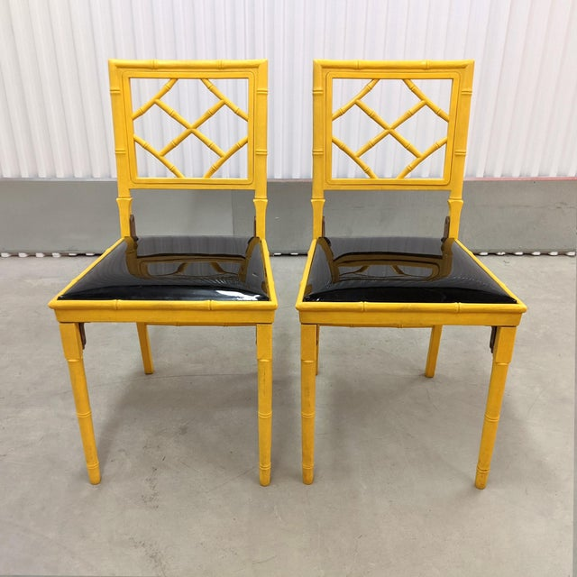 1970s Hollywood Regency Faux Bamboo Folding Chairs - a Pair For Sale - Image 11 of 11