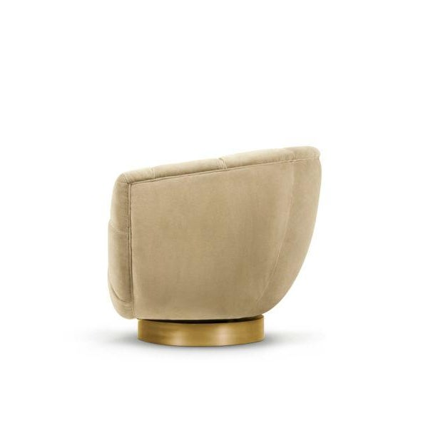 Modern Essex Swivel Chair From Covet Paris For Sale - Image 3 of 5