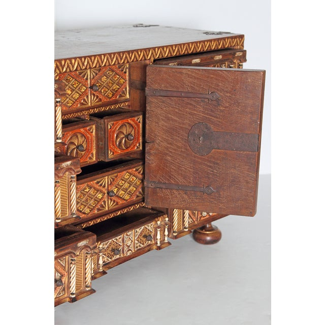 Mid 18th Century Spanish Bargueno / Portable Desk Cabinet For Sale - Image 5 of 13