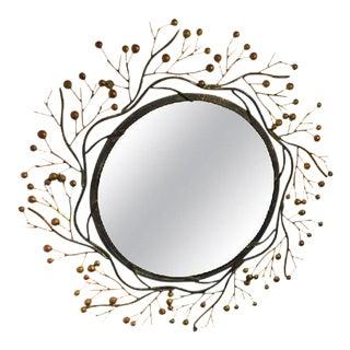Circa 1970 Faux Bois Wall Mirror