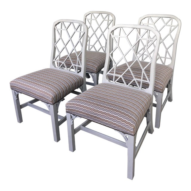 Hickory Furniture Linwood Chippendale Chairs- Set of 4 For Sale