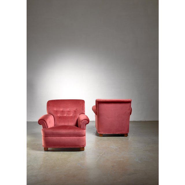 Carl-Johan Boman Pair of Easy Chairs, Finland, 1940s For Sale - Image 4 of 5