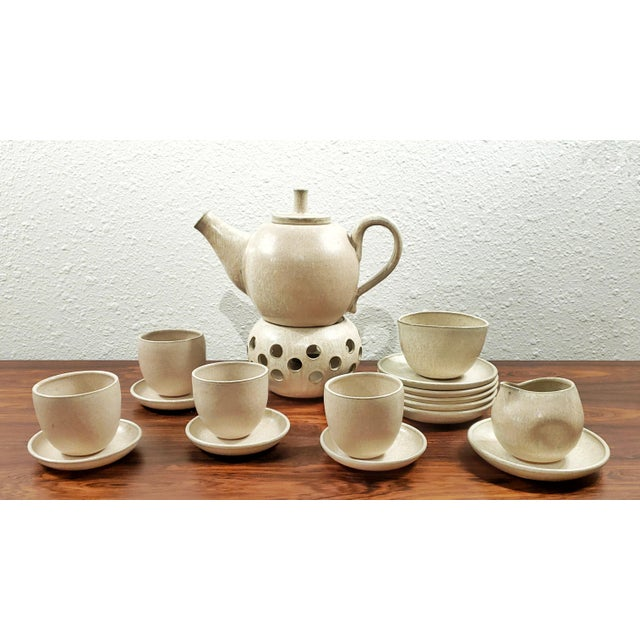 1970s Elisabeth Grosser Studio Pottery Tea Service - Set of 21 For Sale - Image 11 of 11