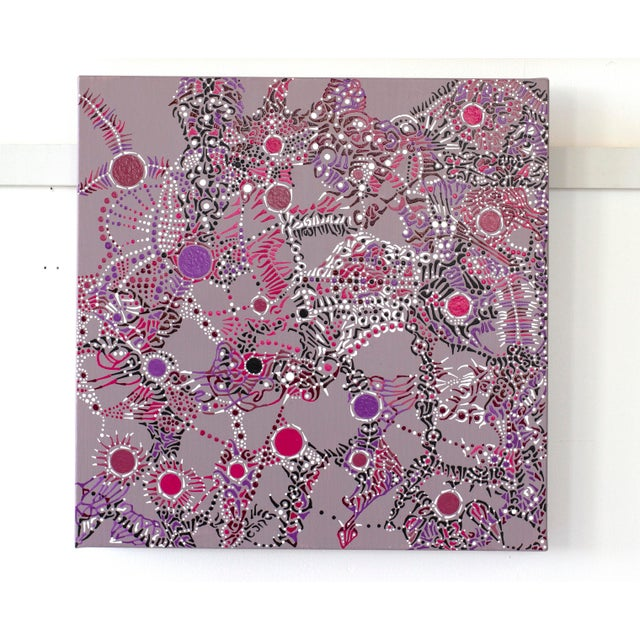 Contemporary Disco II Contemporary Acrylic on Canvas Painting For Sale - Image 3 of 3