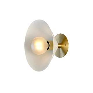 Focal Point Wall Sconce in Brass and White Enamel by Blueprint Lighting, 2019 For Sale