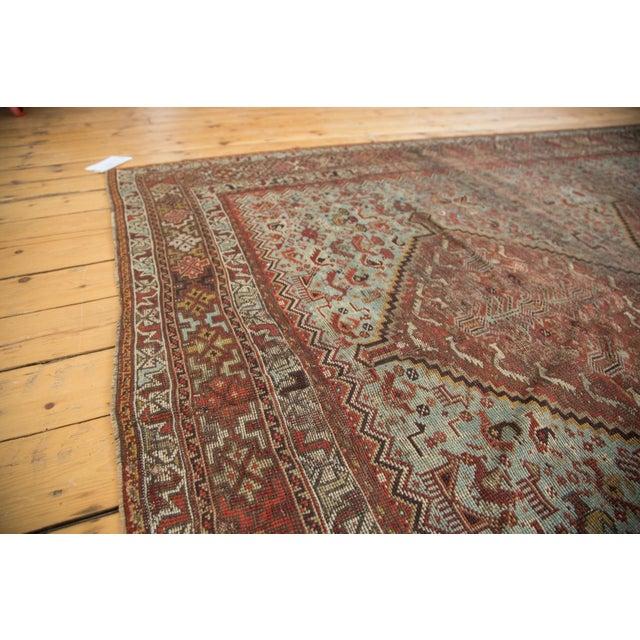 """Blue Vintage Shiraz Carpet - 6'10"""" X 9'9"""" For Sale - Image 8 of 10"""
