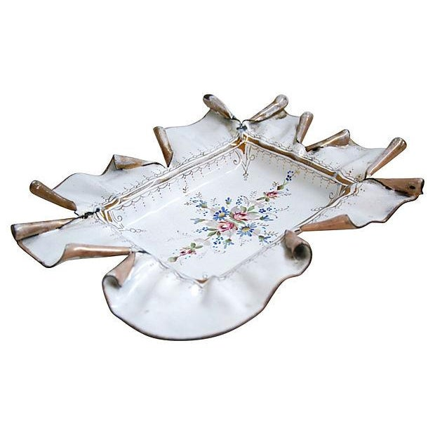 Vintage 1950s French Hand-Painted Catchall Tray - Image 6 of 7