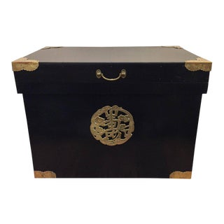 Ebonized Asian Trunk For Sale