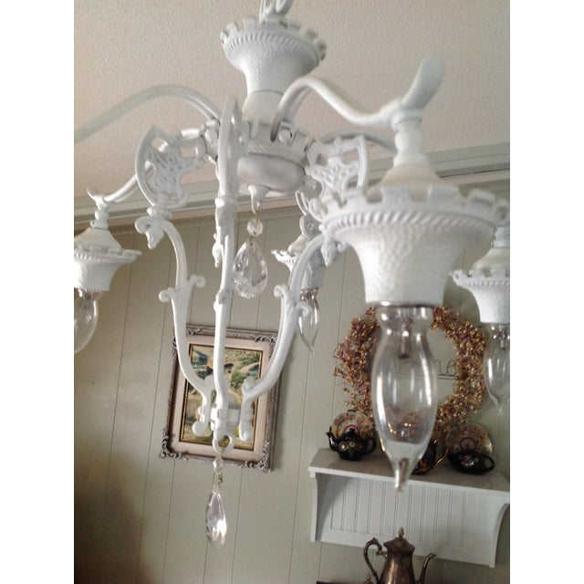 Vintage shabby chic goth white chandelier chairish vintage shabby chic goth white chandelier image 3 of 4 aloadofball Gallery
