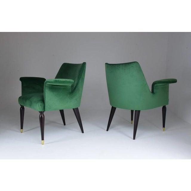 20th Century Pair of Italian Armchairs by Osvaldo Borsani, 1940s For Sale - Image 10 of 11