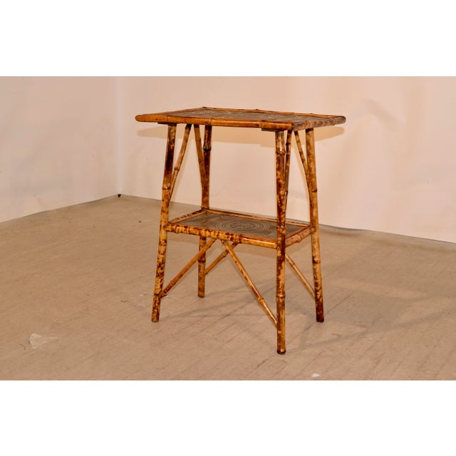 19th Century 19th C Bamboo Side Table For Sale - Image 5 of 8