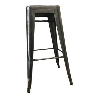 Contemporary Tolix Marais Gunmetal Gray Bar Stoo For Sale