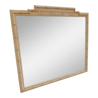 Faux Bamboo Greek Key Mirror