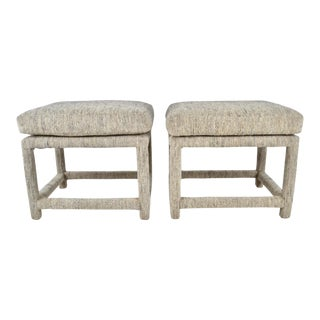 Pair of Upholstered Benches 1970s For Sale