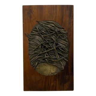 Amalia Schulthess (American, 20th C.) Abstract Bronze W/ Silver Patina C.1960s For Sale