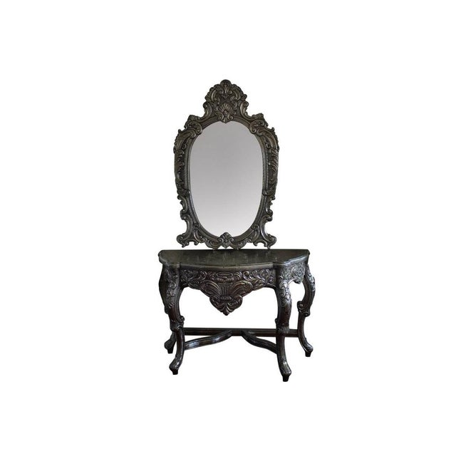 Blackened Silver Royal Dressing Table & Mirror - A Pair - Image 2 of 5