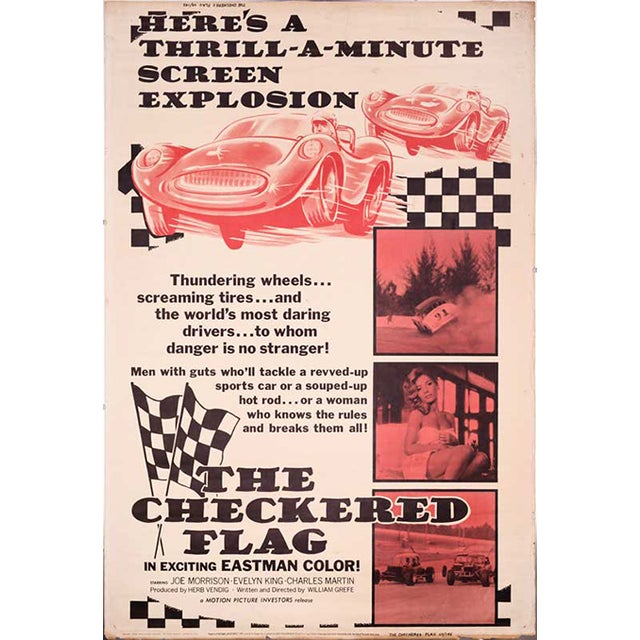 The Checkered Flag 1963 Movie Poster - Image 1 of 2