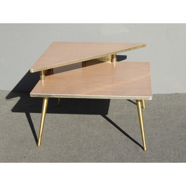 Modern Homes Peg: Mid Century Modern Retro Corner Table /End Table With