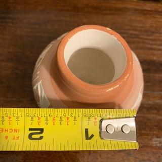 Vintage Navajo Orange Terra Cotta Pottery Vase, Signed Preview