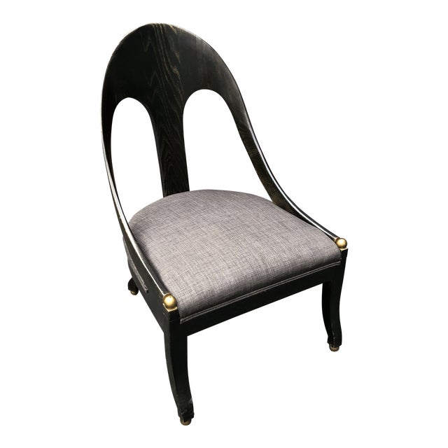 Mid Century Maitland Smith Style Accent Chair For Sale