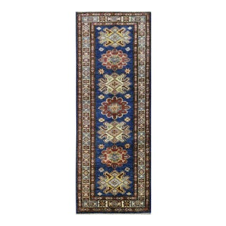 Afghan Super Kazak Wool Rug - 2' x 5'10'' For Sale
