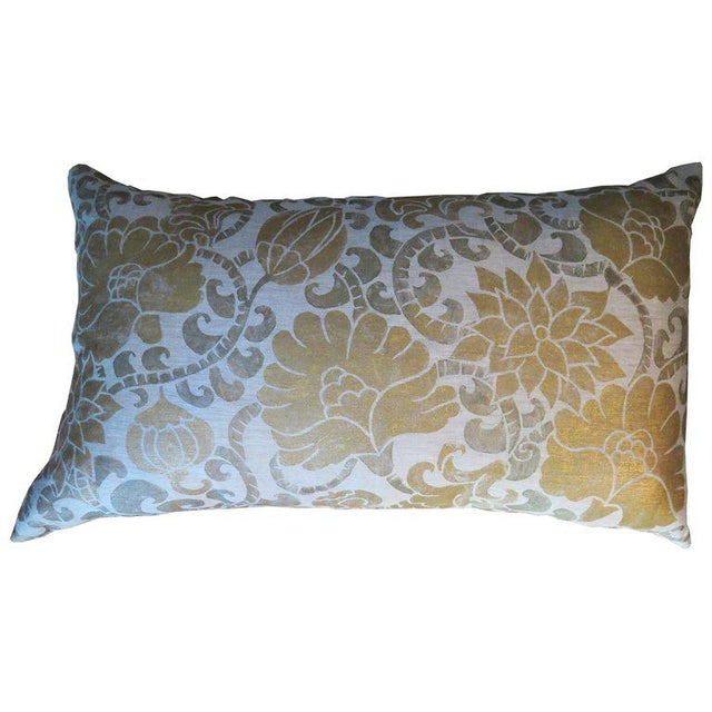 2010s Venetian Linen Pillow For Sale - Image 5 of 5