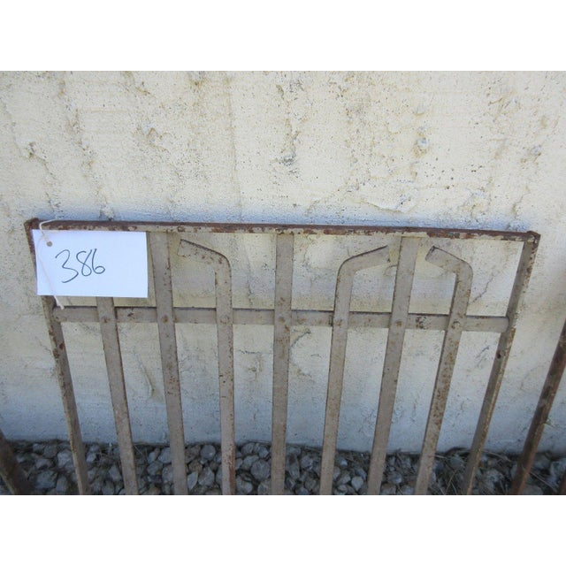 Cottage Antique Victorian Iron Gate For Sale - Image 3 of 5