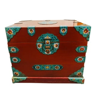 Vintage Chinese Chest With Cloisonne For Sale