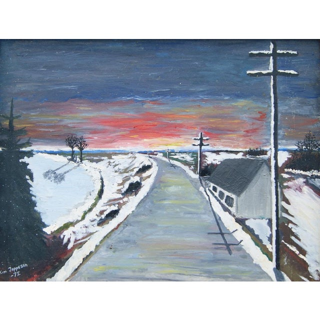 """""""Expressionistic Winter Road"""" by Kim Jeppesen - Image 3 of 5"""