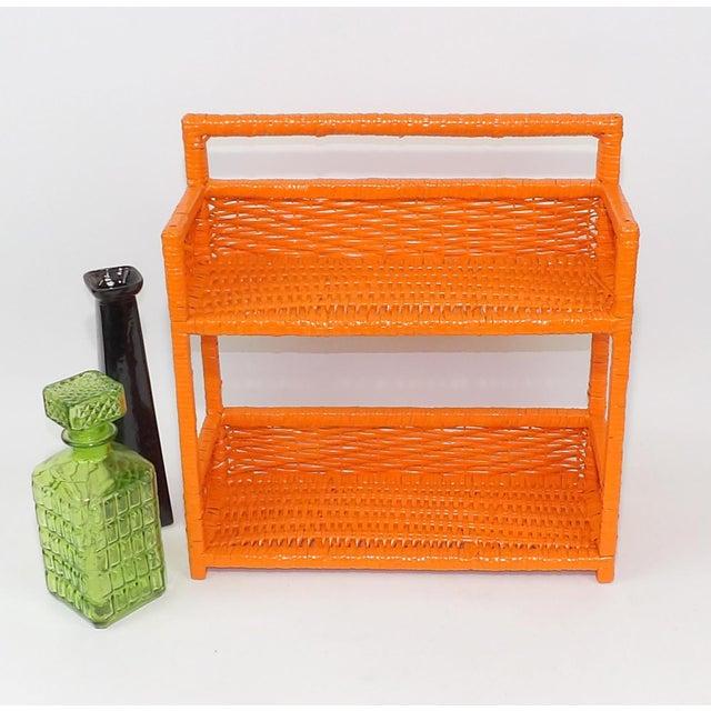 Orange Wicker Wall Shelf - Image 2 of 11