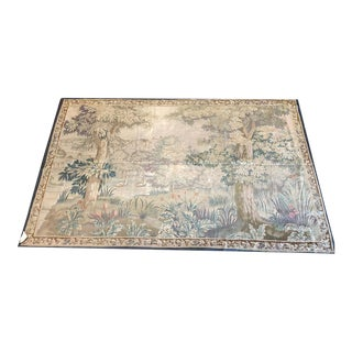Antique Genuine Wall Hanging French Tapestry For Sale