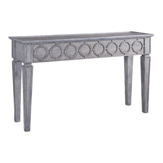 Console San Maria Weathered Gray Circle Design For Sale