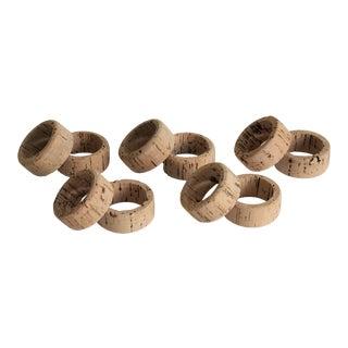 Natural Cork Napkin Rings - Set of 10 For Sale