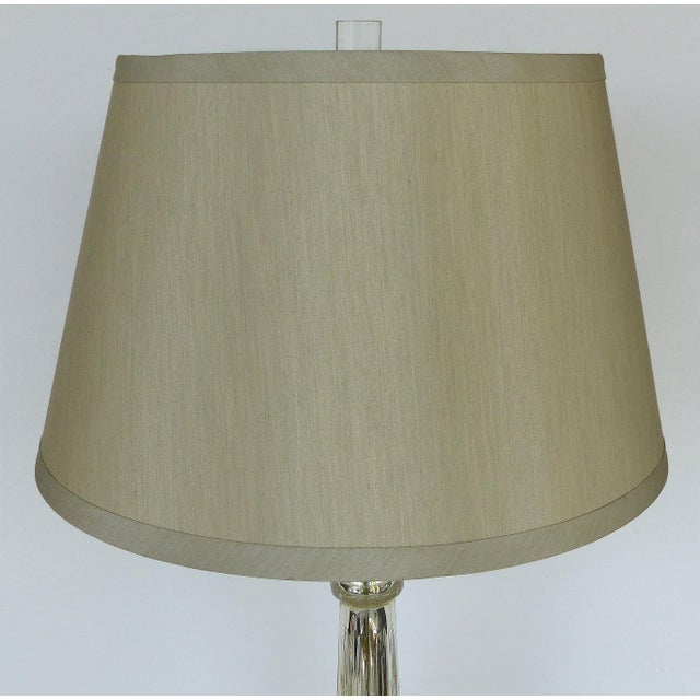 Mercury Glass Table Lamps With Lucite Bases & Finials-A Pair For Sale - Image 9 of 11