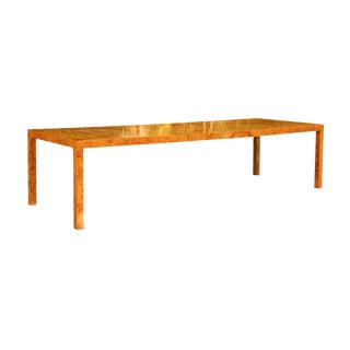 Magnificent Restored Butterfly Patterned Olivewood Dining Table by Milo Baughman for Directional For Sale
